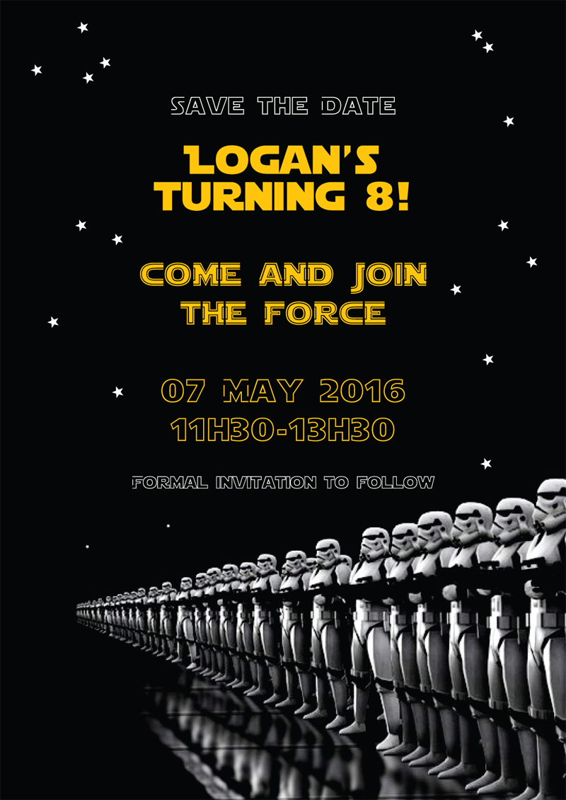 Save the Date - Logan's Turning Eight